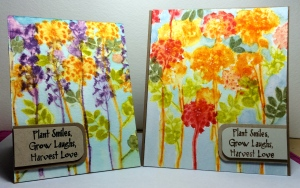 Spring watercolor cards